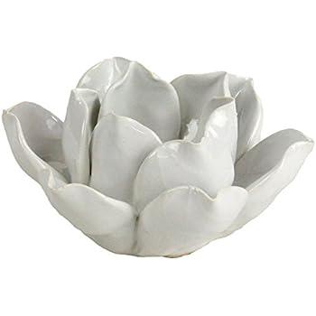 Lotus Tea Light Holder - White - Sold in Case Pack of 2