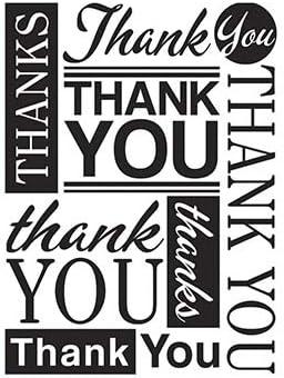 4.25x5.75 Darice Embossing Folder THANKS Definition Thank You Gratitude Grateful
