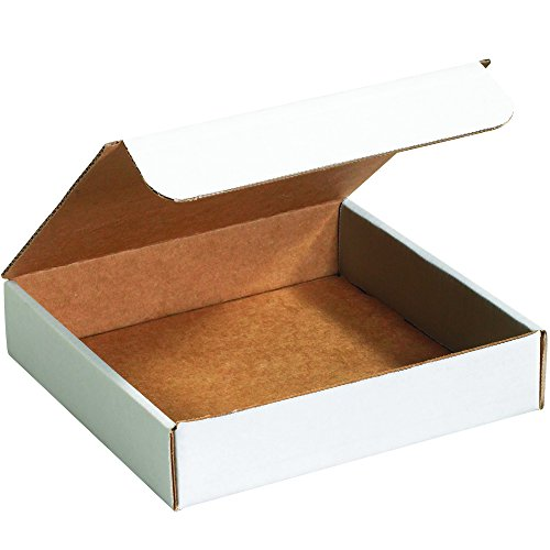- Boxes Fast BFM993 Corrugated Cardboard Literature Mailers, 9 x 9 x 3 Inches, Tuck Top One-Piece, Die-Cut Shipping Boxes, Medium White Mailing Boxes (Pack of 50)
