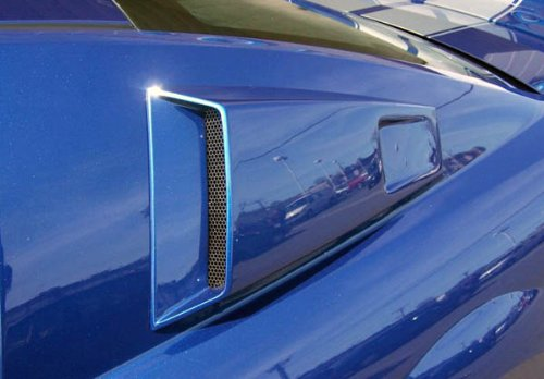 2005-2009 Ford Mustang Couture CVX Window Scoop Louvers - 2 Piece