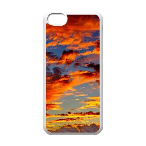 SYYCH Phone case Of Crimson Clouds 1 Cover Case For Iphone 5C