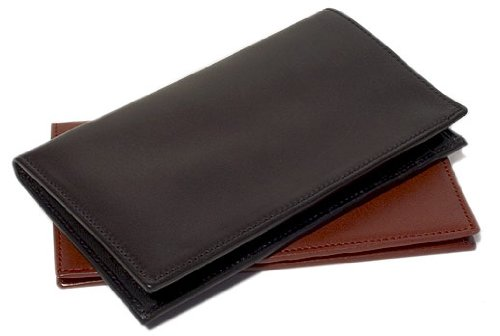 Firenze Checkbook Wallet in Black by Floto Imports