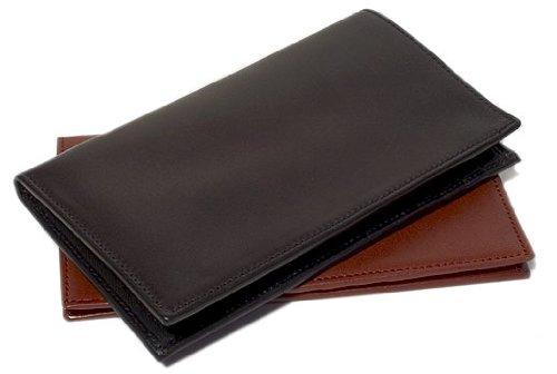 Firenze Checkbook Wallet in Black