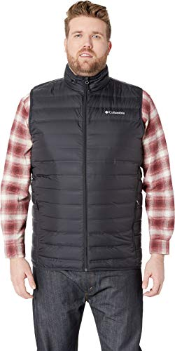 Columbia Men's Big & Tall Lake 22¿ Down Vest Black 1X (Aria Down Vest)
