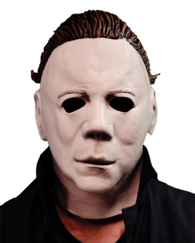 Latex Mask: Halloween 2 Economy *** Product Description: Now You Can Have A Screen Accurate Replica Of Michael Myers From Halloween Ii. Complete With Sculpted Hair. Full Over-The-Head Latex Mask. (Michael Myers Halloween 1 Replica Mask)