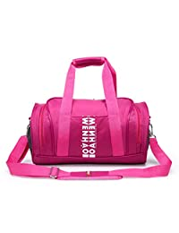 WENHAO Travel Small Duffel Sports Gym Luggage Bag For Women (Small, Pink)
