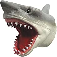 Big Game Toys~Shark Hand Puppet Soft Stretchy Rubber Jaws Baby Shark Realistic 6 Inch Great White New