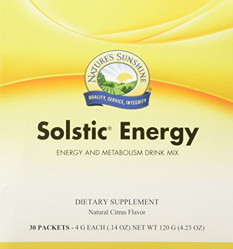 Nature's Sunshine Solstic Energy, 30 Packets | Energy Drink Powder in Individual Packets with 60mg of Natural Caffeine from Guarana Seed Extract For Sale
