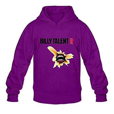 Crystal Men's Billy Talent Long Sleeve Hoodied Sweatshirt Purple US Size L (Of Mice And Men Robert Blake)