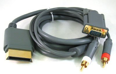 Gamilys Replacement Xbox 360 HD VGA AV RCA 6 ft Cable For Microsoft Xbox 360