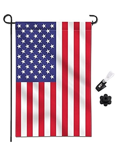 EVOGARDENS American Garden Flag, Truly Double Sided Printed – Rubber Stopper and Anti-wind Clip – USA Flag 12x18inch – United States Decorative Garden Flags – Weather Resistant & Double Stitched For Sale