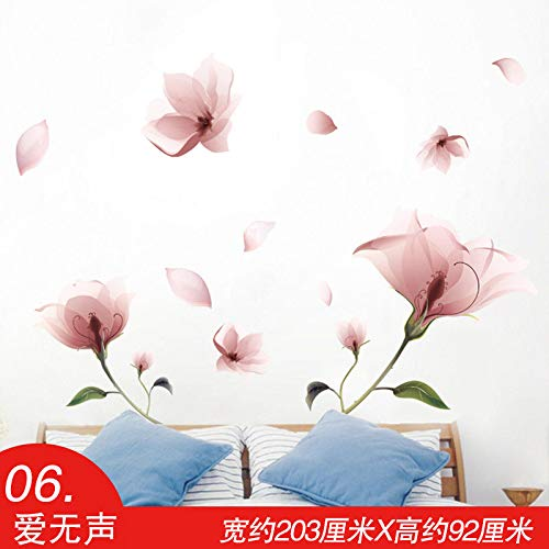 - Wall Sticker SoungNerly Simple Creative Living Room Bedroom Wallpaper self-Adhesive Background Wallpaper Wall Decal, Love Silent