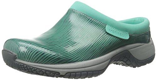 Merrell Women's Encore Slide Pro Shine Slip-Resistant Work Shoe, Aqua/Navy, 5.5 M US by Merrell