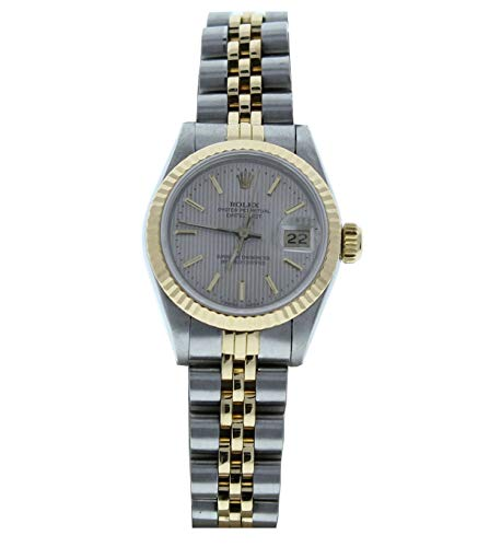 Rolex 69173 26mm Steel & 18k Gold Ladys Datejust Silver Tapestry Dial & Fluted Bezel (Pre-Owned)