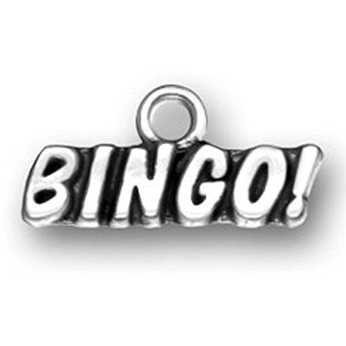 Sterling Silver BINGO! Word Charm (Bingo Silver Sterling)