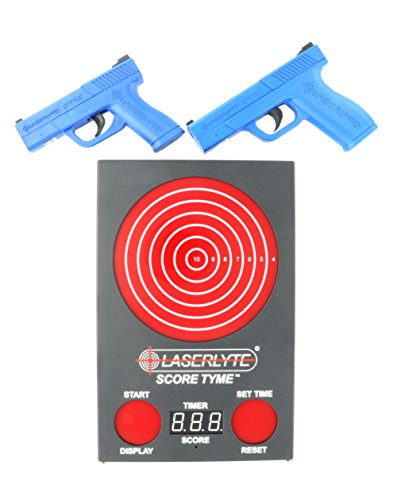 - LaserLyte Trainer Target Score TYME with 147 LEDs That Light up and Score Every Shot Includes 2 Laser Training Pistols Full and Compact Size Familiar Feel to a Glock 19 and 43 with RESETTING Trigger