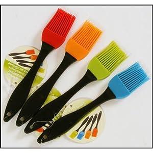 Silikonpinsel Küchen- Brat- Back- Grill- Pinsel 18,5cm, 1 aus 4 Farben