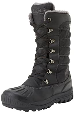 Timberland Women's 21645 Earthkeepers Mount Holly Tall Lace Duck Boot,Black/Black,5.5 M US