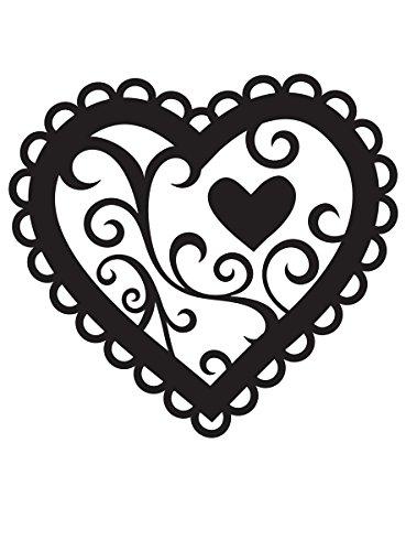 Smiles Folders - Darice 1218-46 Embossing Folder, 4.25 by 5.75-Inch, Valentines Heart Design