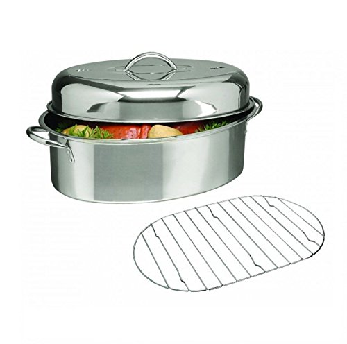 (Ship from USA) OVAL CUISINE SELECT 16 inch ROASTER PAN TURKEY HAM MEAT with ROASTING RACK & LID NEW /ITEM NO#8Y-IFW81854216238