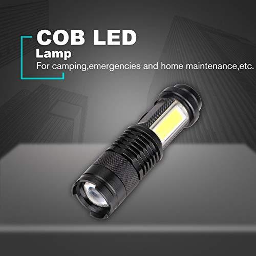 Negro RoadRoma Linternas de Mano Impermeables COB LED Linterna Luz de Trabajo para emergencias
