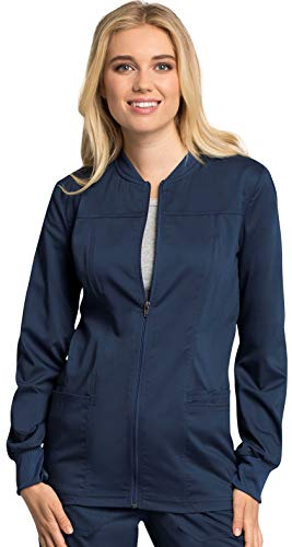 Cherokee WW Revolution Tech WW305AB Women's Zip Front Warm-Up Jacket Navy 2XL