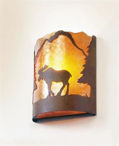 - Steel Partners Lighting Timber Ridge Sconce, Moose