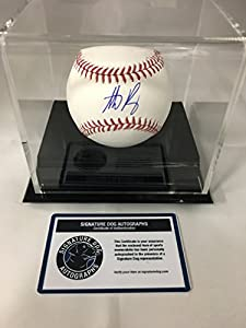 Anthony Rizzo Autographed Signed Chicago Cubs MLB Baseball With Display Case Included COA & Hologram