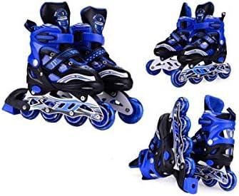インラインスケート四輪フリーサイズメタルダスト画面アルミ合金ブラケットPP繊維素材の靴シェル優秀なギフト良い選択 (Color : Blue, Size : Only shoes)