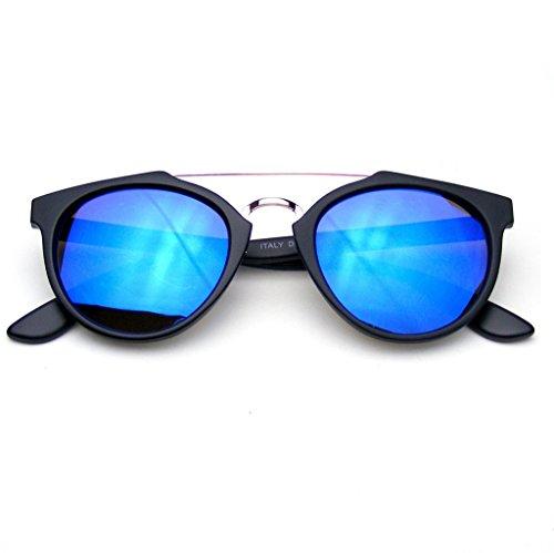 Inspirado Azul Vintage Flash Lente La De Gafas Eyewear En Sol Dapper Transversal Espejo Barra Emblem 46wEq1S