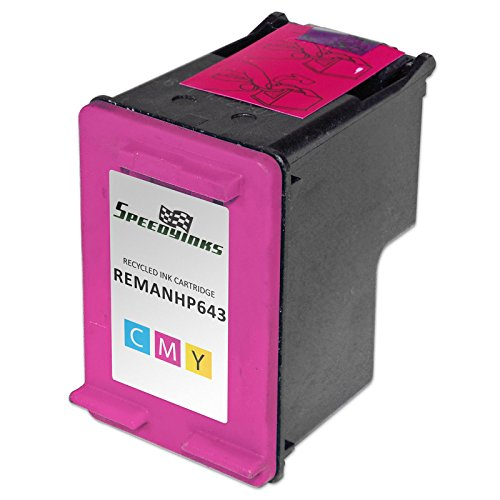 Speedy Inks - Remanufactured replacement for HP 60 CC643WN Tri-Color Ink Cartridge