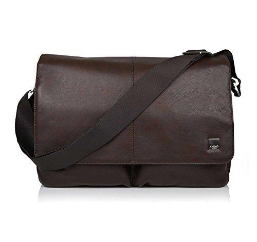 Knomo Luggage Men's Kobe Laptop Messenger Bag Brown One Size [並行輸入品]   B078G6NLPX
