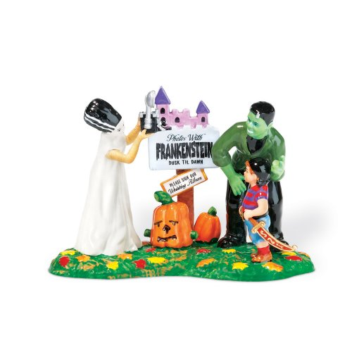 [Department 56 Snow Village Halloween Photos With Frankenstein] (Spirt Halloween)