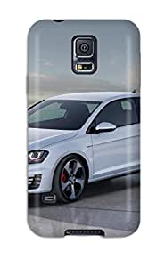 Hot AUSSoIG7671lIUCi Case Cover Protector For Galaxy S5- 2012 Volkswagen Golf 7 Gti Concept Static Side Angle Vw Group Wolkswagen Wolfsburg Peoples Car Das A Cars Other