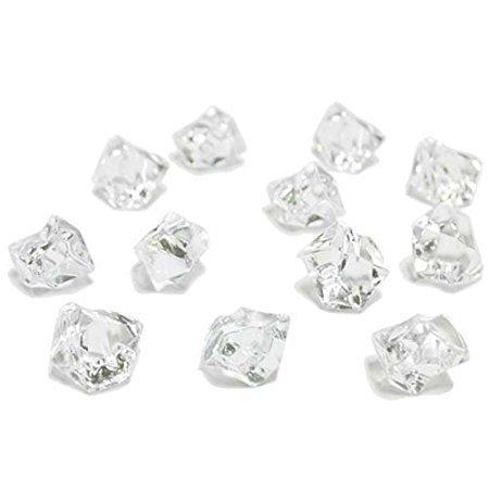 Acrylic Ice Rock Cubes 3 Lbs Bag, Vase Filler or Table De...