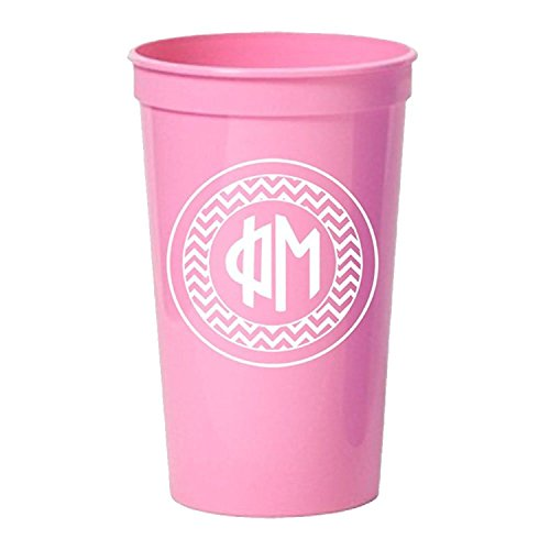 monogrammed plastic cups - 3