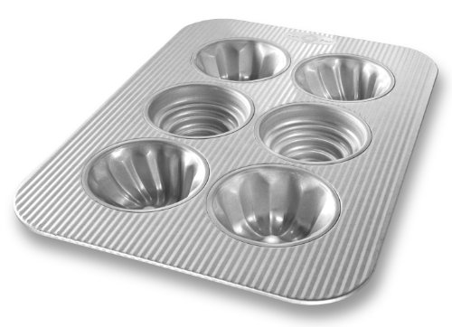 USA Pan Bakeware Variety Cupcake Pan, 6 Well, Nonstick & Quick Release Coating, Made in the USA from Aluminized Steel (Baking Pan Shapes)