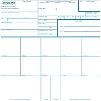 Crime Scene Fingerprint Cards, Applicant FD-258, 250 Pack
