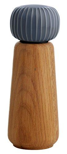 Kahler Hammershoi - Oak and Porcelain Pepper Mill / Pepper Grinder (Anthracite Gray)