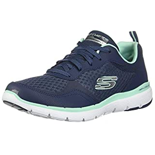 Skechers Women's Flex Appeal 3.0-GO Forward Sneaker, NVAQ, 7 M US