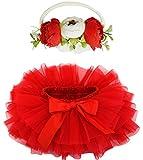 BGFKS Baby Girls Soft Fluffy Tutu Skirt with Diaper
