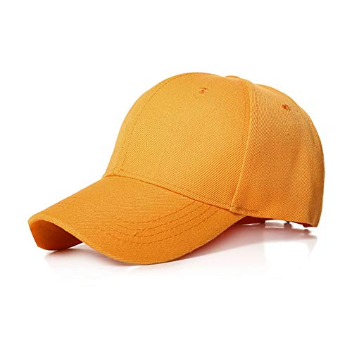 (Plain Baseball Cap Women Men Snapback caps Classic hat Sport Outdoor Cap,Dark Yellow)