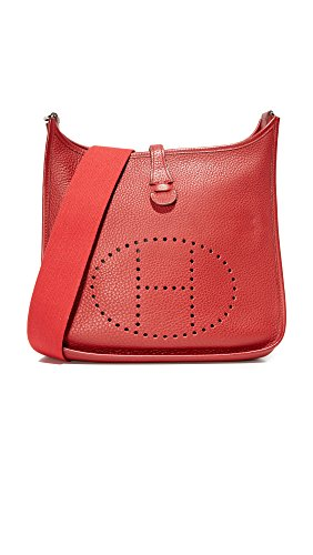 Hermes Evelyne Shoulder Bag (What Goes Around Comes Around Women's Hermes Evelyne II Feed Bag (Previously Owned), Red, One)