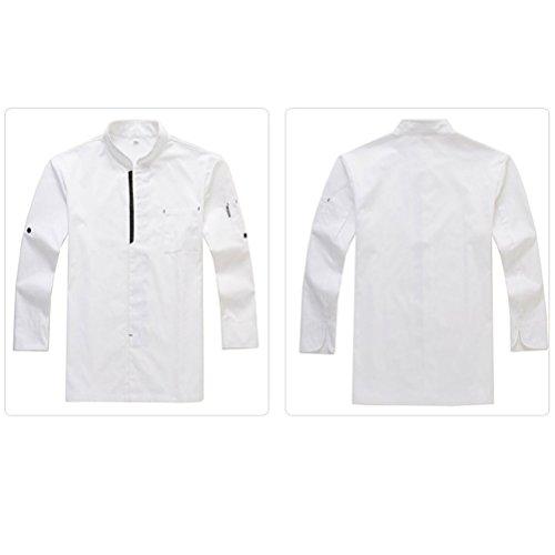 2 Clothes Work Alta Uniform Zhuhaitf Colors Long Chef White Advanced Qualità Classic Sleeve Unisex dPxBxqY0