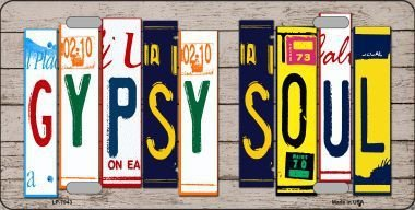 Smart Blonde LP-7943 Gypsy Soul Wood License Plate Art Novelty Metal License Plate SmartBlonde