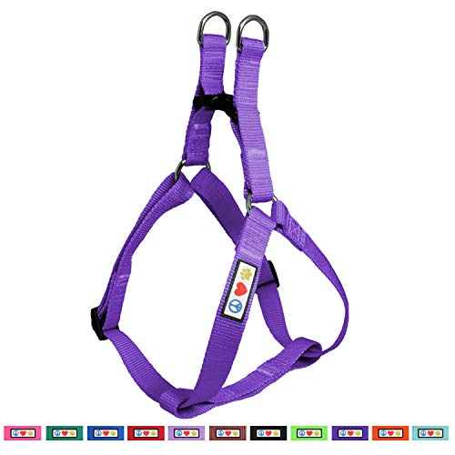 Pawtitas Solid Color Step in Dog Harness or Vest Harness Dog Training Walking of Your Puppy Harness Extra Small Dog Harness Purple Dog Harness