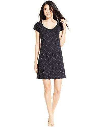 Ruffled Silk Camisole (Alfani Womens Polka Dot Ruffled Nightgown B/W S)