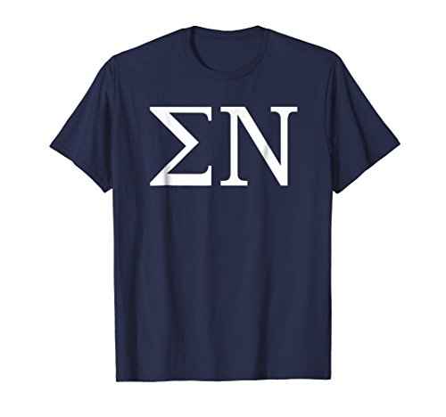 (Mens Sigma Nu Shirt College Fraternity Sorority Tee Large Navy)