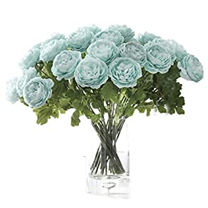 Anlise 5 Heads Artificial Peony Flowers 1 Bouquet Silk Fake Flower for Home Bridal Wedding Party Festival Bar Décor 3