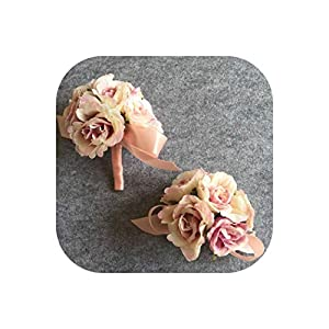 First Ring Goom Boutonniere Buttonholes Bride Wrist Corsage Hand Flower Wedding Flower Man Suit Party Decoration 118